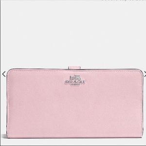 Coach Pink Leather Wallet
